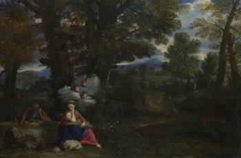 The Rest on the Flight into Egypt   Pier Francesco Mola   oil painting