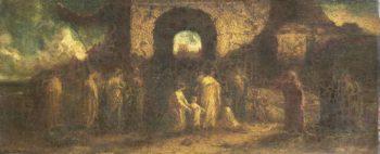 Christ blesses the children. 1870 - 1886 | Adolphe Joseph Thomas Monticelli | oil painting