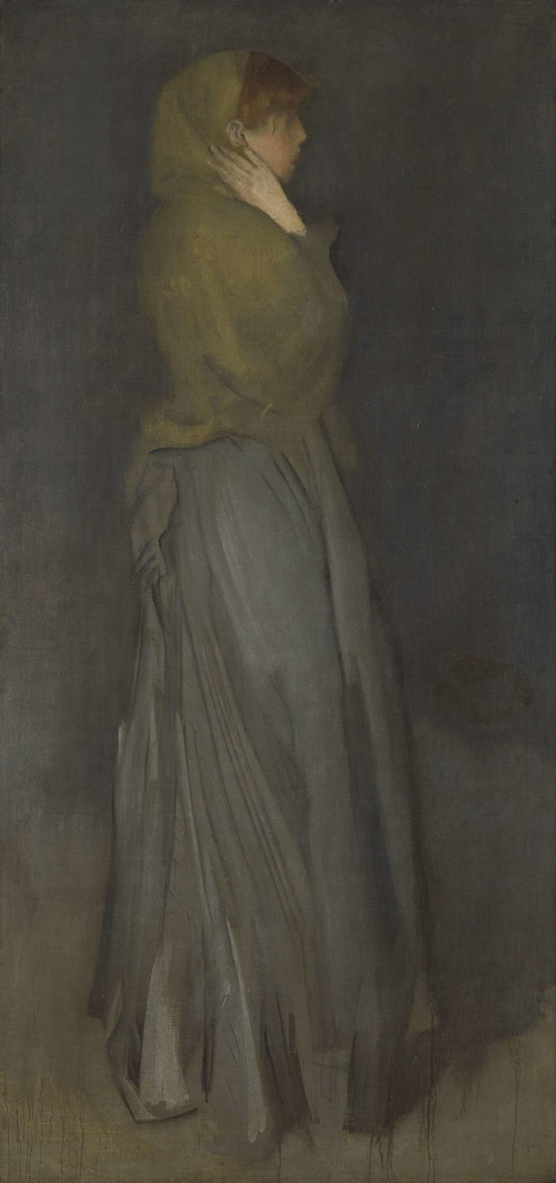 Arrangement in Yellow and Gray: Effie Deans. ca. 1876 - ca. 1878 | James Abbott McNeill Whistler | oil painting