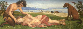 A Satyr mourning over a Nymph | Piero di Cosimo | oil painting