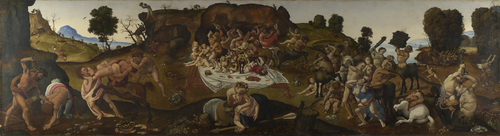 The Fight between the Lapiths and the Centaurs | Piero di Cosimo | oil painting
