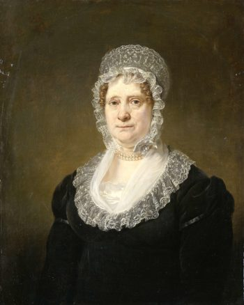 Sara de Haan (1761-1832). Widow of Amsterdam Cornelis insurer Hartsen. 1820 - 1832 | Jan Willem Pieneman | oil painting