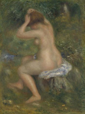 A Bather   Pierre-Auguste Renoir   oil painting