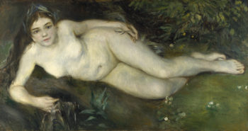 A Nymph by a Stream | Pierre-Auguste Renoir | oil painting