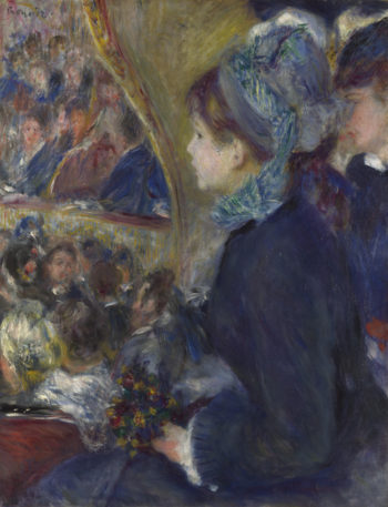 At the Theatre (La Premiere Sortie) | Pierre-Auguste Renoir | oil painting