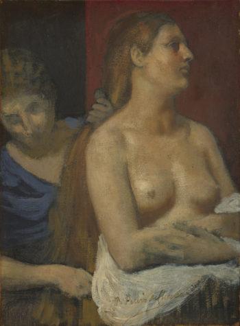 A Maid combing a Woman's Hair | Pierre-Cecile Puvis de Chavannes | oil painting