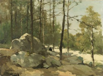 Wooded View near Barbizon. 1900 | Johan Hendrik Weissenbruch | oil painting