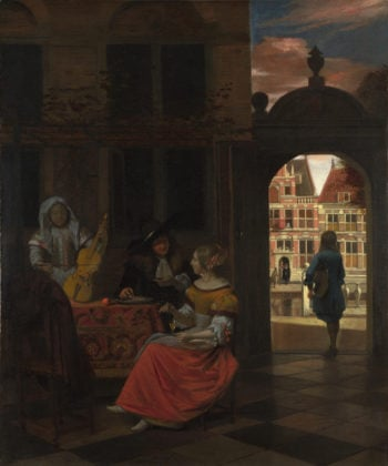 A Musical Party in a Courtyard | Pieter de Hooch | oil painting