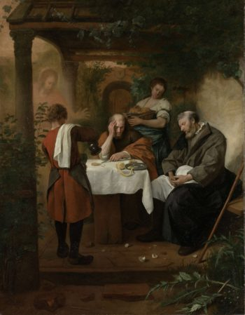 The Supper at Emmaus. 1665 - 1668 | Jan Havicksz. Steen | oil painting