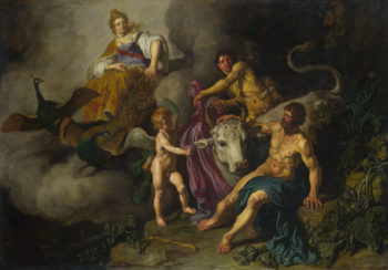 Juno discovering Jupiter with Io | Pieter Lastman | oil painting