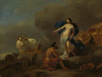 Juno gives guard. Argus command Io. 1655 - 1683 | Nicolaes Pietersz. Berchem | oil painting