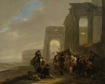 People Scene from Roman ruins. 1640 - 1652 | Jan Both | oil painting