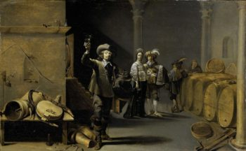 The wine tasters. ca. 1640 - ca. 1642 | Jacob Duck | oil painting