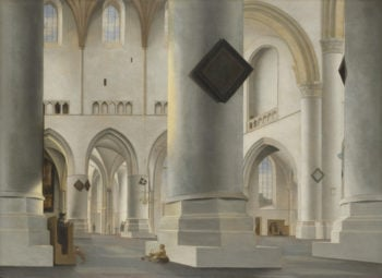 The Interior of the Grote Kerk at Haarlem | Pieter Saenredam | oil painting