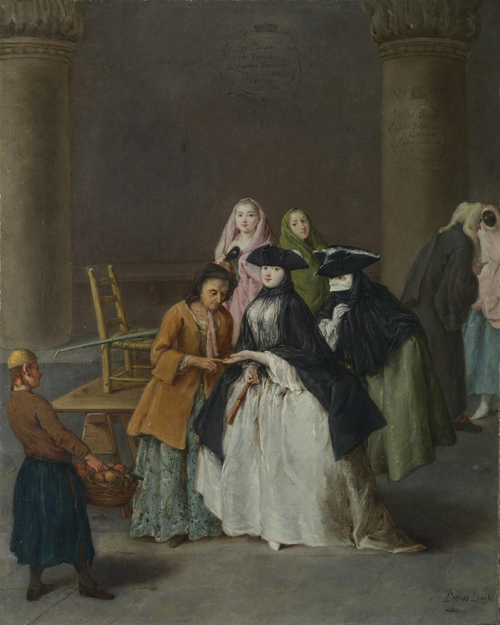 A Fortune Teller at Venice | Pietro Longhi | oil painting