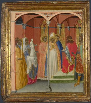 Saint Sabinus before the Governor of Tuscany | Pietro Lorenzetti | oil painting