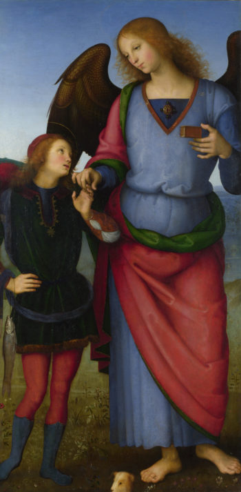The Archangel Raphael with Tobias | Pietro Perugino | oil painting