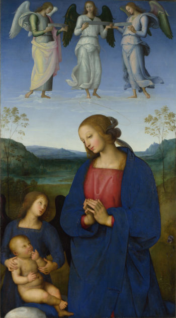 The Virgin and Child with an Angel | Pietro Perugino | oil painting