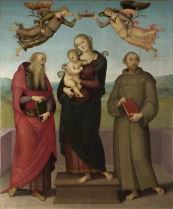 The Virgin and Child with Saints Jerome and Francis | Pietro Perugino | oil painting