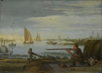 A bird hunter. ca. 1626 - ca. 1631 | Arent Arentsz. | oil painting