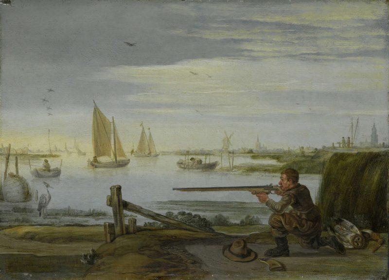 A bird hunter. ca. 1626 - ca. 1631 | Arent Arentsz. | oil painting