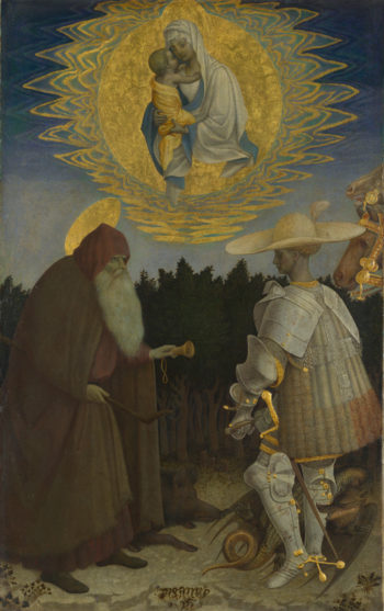 The Virgin and Child with Saints | Pisanello | oil painting