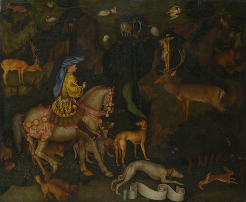 The Vision of Saint Eustace   Pisanello   oil painting