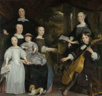 David Leo with his Family. 1671 | Abraham van den Tempel | oil painting
