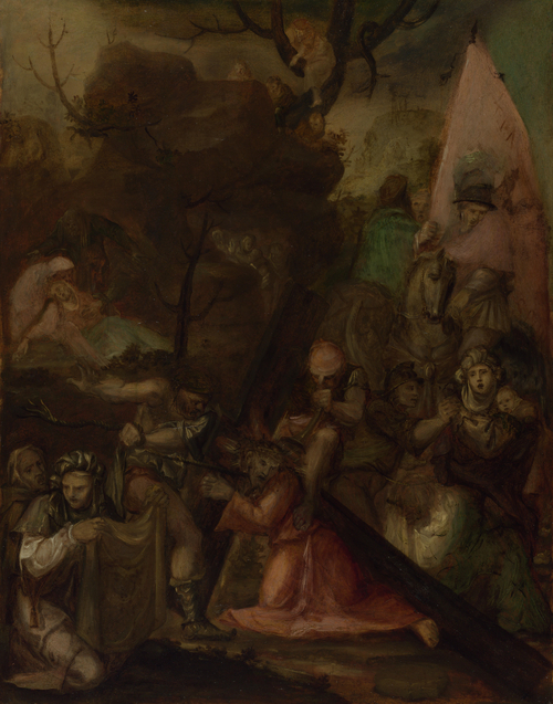 The Way to Calvary | Polidoro da Caravaggio | oil painting