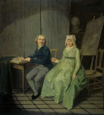 A painter with his wife. 1791 | Wybrand Hendriks | oil painting