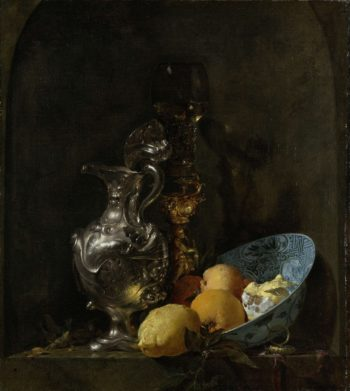 Still Life with Silver Ewer. 1655 - 1660 | Willem Kalf | oil painting