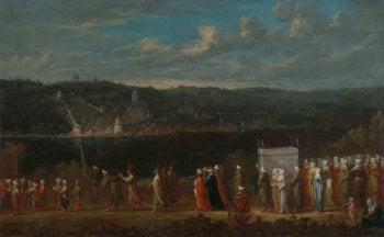 Wedding procession on the Bosphorus. ca. 1720 - ca. 1737 | Jean Baptiste Vanmour | oil painting