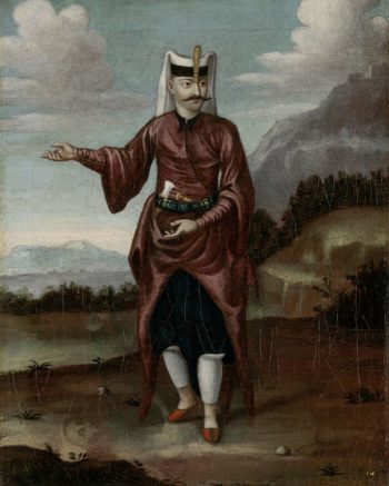 A soldier of the Janissaries. 1700 - 1737 | Jean Baptiste Vanmour | oil painting