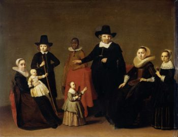 Family Group with a black man. ca. 1631 - ca. 1633 | Willem Cornelisz. Duyster | oil painting