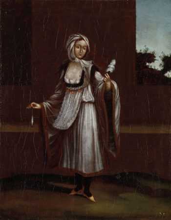 Woman of the island of Patmos. 1700 - 1737 | Jean Baptiste Vanmour | oil painting