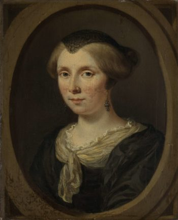 Margaret Verkolje. Wife of Reinier Couturier. 1682   Jan Verkolje (I)   oil painting