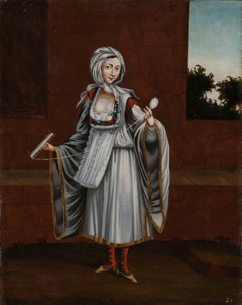 Woman of the island Kythnos (Thermia). 1700 - 1737 | Jean Baptiste Vanmour | oil painting