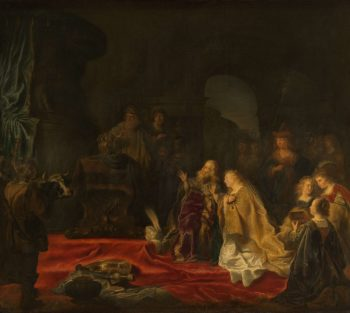 The idolatry of King Solomon. 1644 | Salomon Koninck | oil painting
