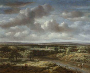 River Landscape. 1676 | Philips Koninck | oil painting