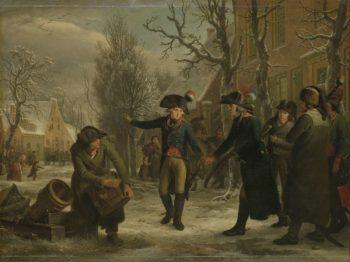 General Daendels Taking Leave of Lieutenant-Colonel Krayenhoff. 1795 | Adriaan de Lelie | oil painting