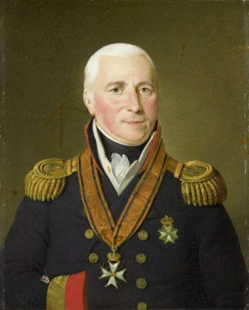 Gerrit Verdooren (1757-1824). Vice Admiral. 1814 - 1820   Adriaan de Lelie   oil painting