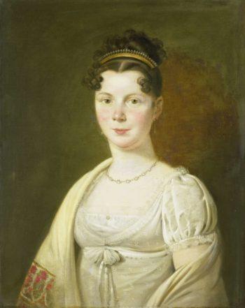 Wilhelmina Maria Haack (1786-1857). Fourth wife of Gerrit Verdooren. 1814 - 1820 | Adriaan de Lelie | oil painting