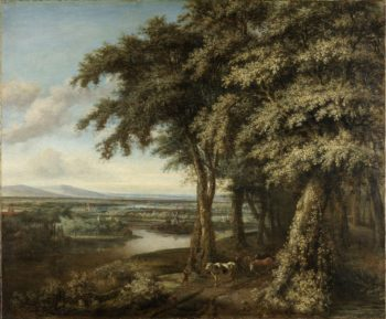 The entrance to the forest. 1650 - 1688 | Philips Koninck | oil painting