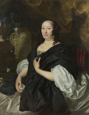 Portrait of Catharina van der Voort. 1667 | Abraham van den Tempel | oil painting