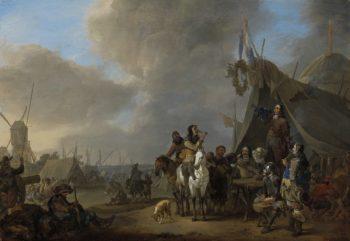 Camp. 1650 - 1674 | Johannes Lingelbach | oil painting