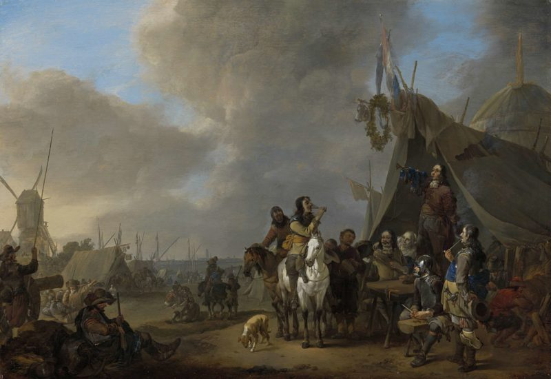 Camp. 1650 - 1674   Johannes Lingelbach   oil painting