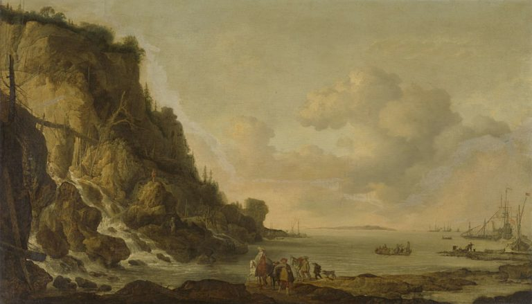 Rocky coast. 1630 - 1653 | Simon de Vlieger | oil painting