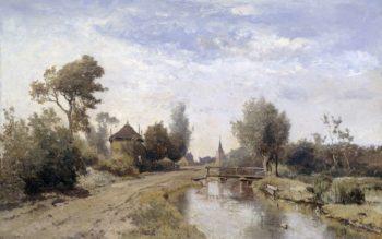 Landscape at Kortenhoef. 1877 | Paul Joseph Constantin Gabri?l | oil painting