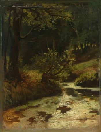 Brook in the Woods near Oosterbeek. ca. 1860 | Matthijs Maris | oil painting
