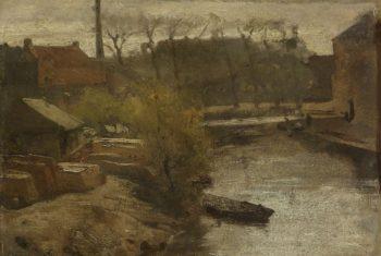 The North West Buitensingel in The Hague. ca. 1864 - ca. 1866 | Matthijs Maris | oil painting
